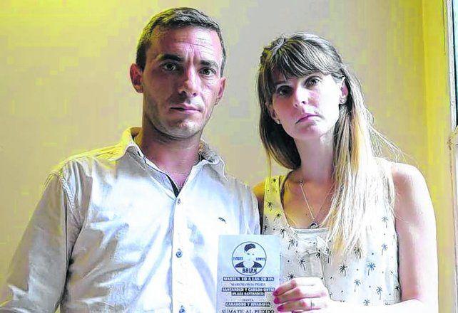padres del dolor. Fernando Aguinaco y Eliana Passada