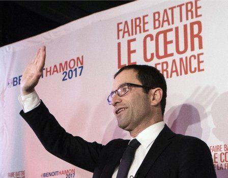 sorpresa. Benoit Hamon logró algo más del 35%