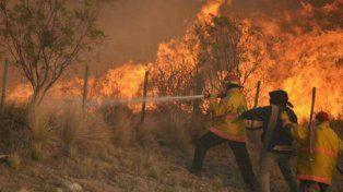 Una tormenta eléctrica seca desata diez focos de incendio en La Pampa