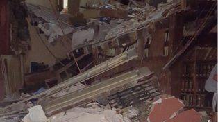 Susto en Santa Fe por derrumbes en el edificio del Archivo General de la Provincia