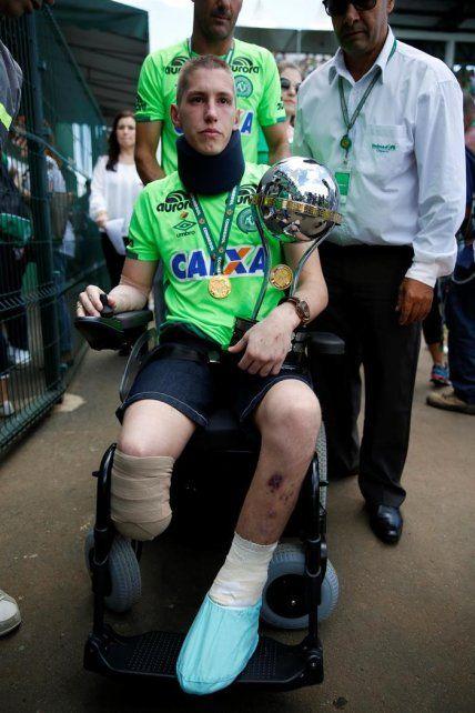 El arquero de Chapecoense que perdió una pierna contó cuál es su sueño y dijo que lo va cumplir