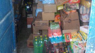 Parte de la mercadería que fue recuperada en allanamientos realizados en Pérez
