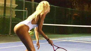 Vicky Xipolitakis jugó al tenis en malla entera y volvió locos a los mexicanos