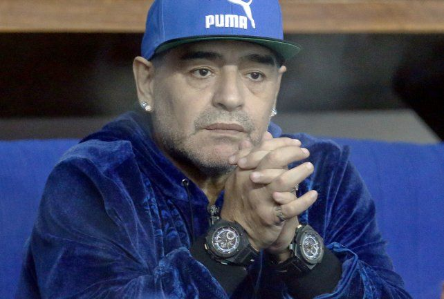 Maradona aseguró hoy que Verónica Ojeda no lo deja ver a Dieguito Fernando.