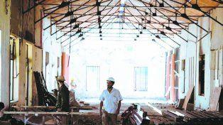 En obras. El viejo Patio de la Madera está siendo remodelado.