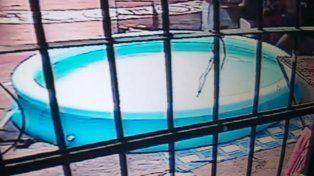 Imagen de la pileta colocada en el Pabellón 7º.