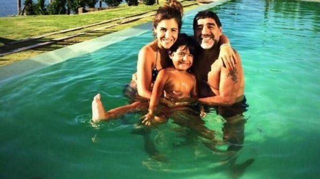 Gianinna celebró el amor con una foto del reencuentro de Maradona y Benjamín