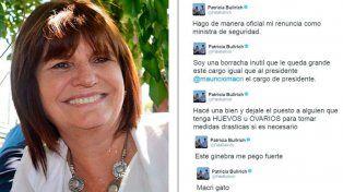 La catarata de tweets que recibió la ministra de Seguridad nacional.