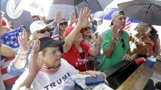Un grupo de simpatizantes de Trump durante el acto de su asunción el pasado 20 de enero.