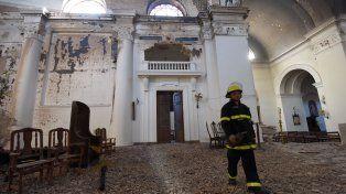 La imagen de la Catedral tras el incendio.