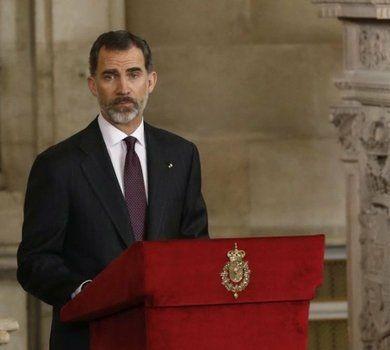 autoridad. Felipe VI cerró el año de homenajes a Cervantes en España