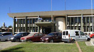 La sede de la policía de Vera de donde se fugó el narcotraficante.