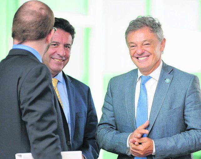 reunión. El ministro Cabrera se entrevistó con sus colegas en Brasilia.