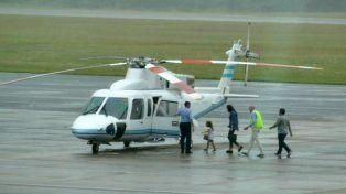 polemica porque macri envio el helicoptero presidencialpara traer a su familia de uruguay