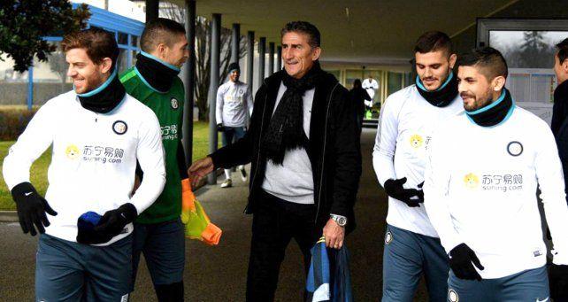 En una cumbre de rosarinos, el Patón Bauza y Mauro Icardi se reunieron por la selección