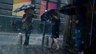 El alerta fue lanzado por el Servicio Meteorológico para esta tarde en toda la provincia.