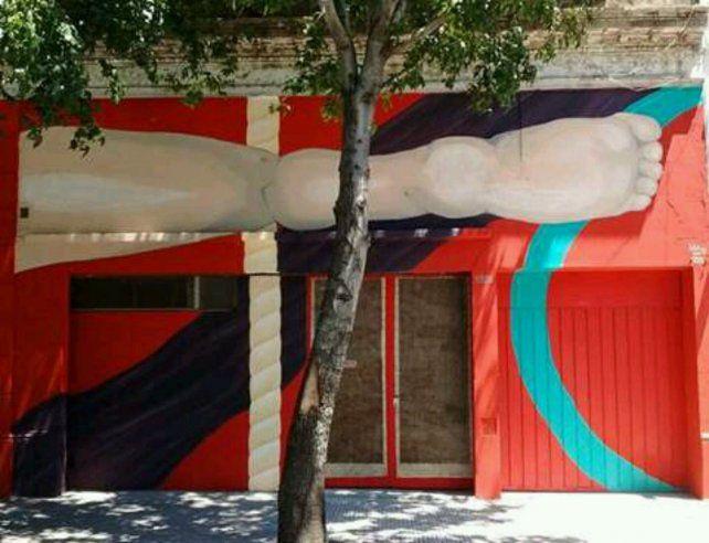 Un mural alusivo de lo que está por venir en el barrio del Abasto.
