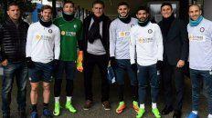 Corte italiano. Bauza posó con Ansaldi, Icardi y Banega, los rosarinos de Inter.