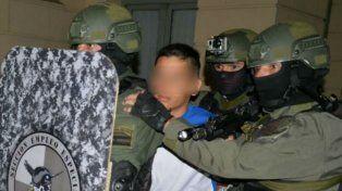 Ranita custodiado por personal de Gendarmería Nacional