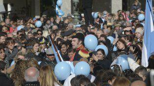 Jura. Cada 20 de junio, la figura de Belgrano se hace vívida en el Monumento.