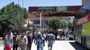 El paso fronterizo entre La Quiaca y Villazón.