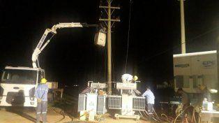 La EPE restableció el servicio de energía en la ciudad de Esperanza.