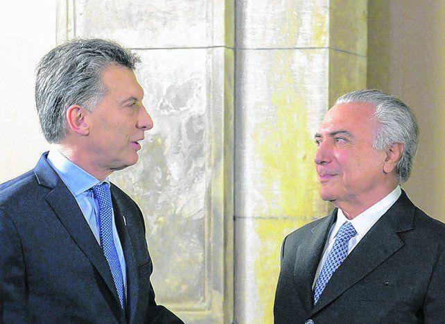 Buena sintonía. Los presidentes Macri y Temer comparten el mismo perfil ideológico.