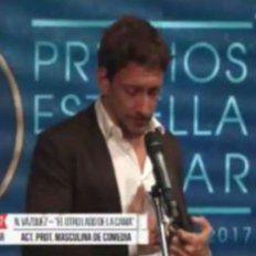 con un emotivo discurso, nico vazquez dedico a su hermano el premio estrella de mar