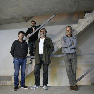 Arquitectos rosarinos premiados en bienal de arquitectura. Gerardo Caballero, Ariel Giménez Rita, Carlos Araujo y Nicolas Campodónico.