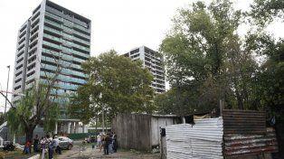 El sector que estuvo en disputa. Allí viven 70 familias.