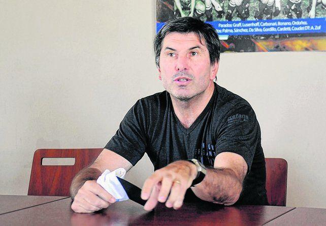 Al frente. Daniel Teglia se hizo cargo de todo el fútbol en el charrúa.