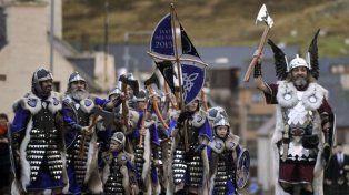 Imágenes del tradicional festival vikingo de Escocia