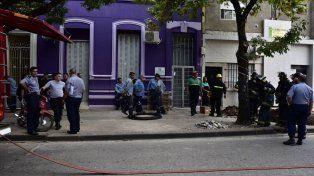Operarios de Litoral gas trabajan para enmendar la fuga en Cerrito al 700.