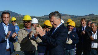 En el sur. Macri inauguró ayer obras en San Martín de los Andes.