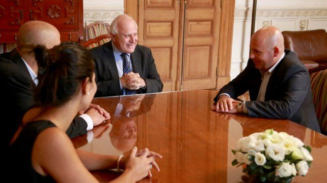 Lifschitz recibió al intendente de Madryn para compartir experiencias de gestión