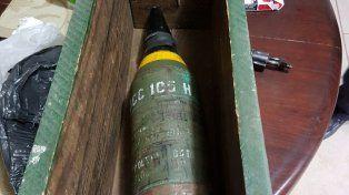 Un proyectil de la Segunda Guerra Mundial. No estaba apto para estallar.