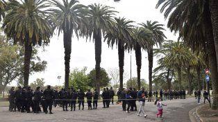 El operativo en el parque Independencia ya está en marcha.