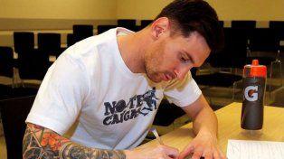 Messi donó más de 4 millones de pesos para reconstruir un polideportivo municipal
