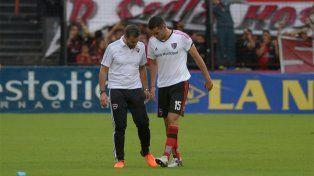 El uruguayo Formiliano salió con una molestia el sábado pasado frente a Colón.