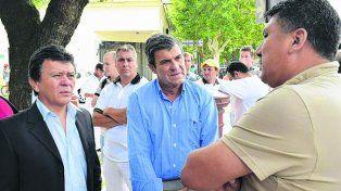 Encuentro. Los diputados Pieroni y Solis y el titular de Atilra.