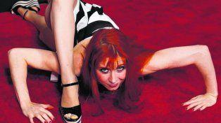 Bonnie Morgan llevó su araña a la alfombra roja