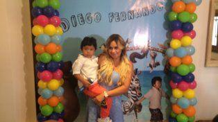 Diego Fernando cumplió 4 años y lo festejó con su mamá.