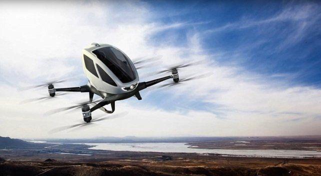 El dron que se utilizará es el eHang 184