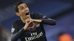 Mirá los goles de Di María en la goleada del PSG al Barcelona por la Uefa Champions League