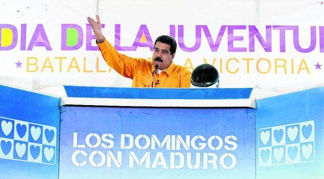 Reacción. El presidente venezolano dijo que la acusación es parte de una visión imperial.