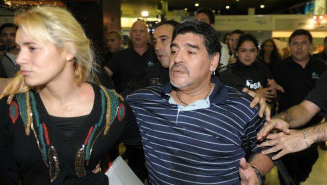 Rocío Oliva y Maradona llevan cuatro años juntos.