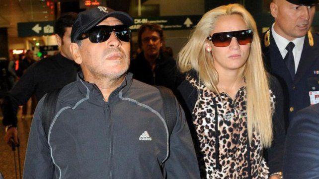 Maradona y Rocío Oliva discutieron en un hotel de Madrid y tuvo que intervenir la policía.