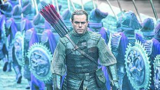 Héroe. Matt Damon interpreta a un mercenario que es tomado como prisionero y termina sumándose al ejército.