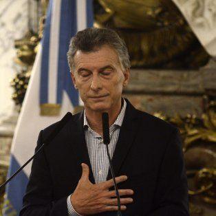 El presidente Mauricio Macri durante la rueda de prensa esta tarde en Casa Rosada.