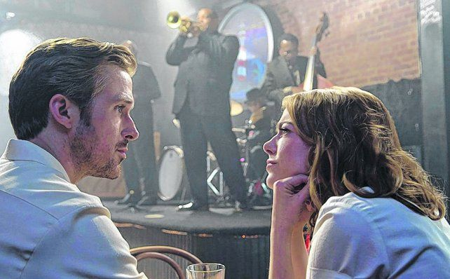 En punta. Ryan Gosling y Emma Stone